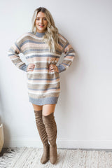 so lost striped sweater dress