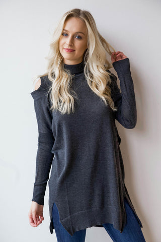 [shop name], cold shoulder tunic/dress