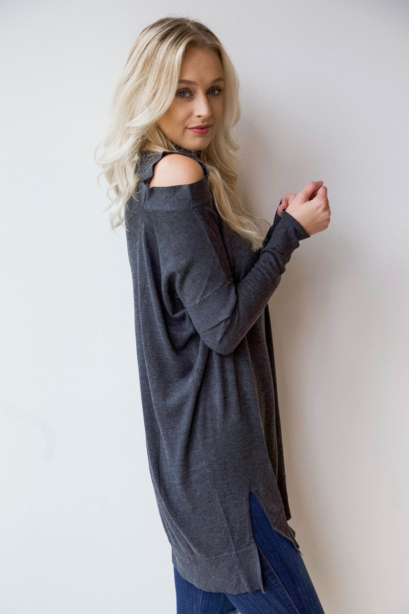 mode, cold shoulder tunic/dress