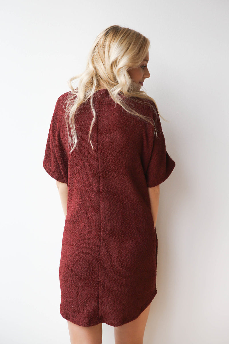 mode, cozy scruff dress