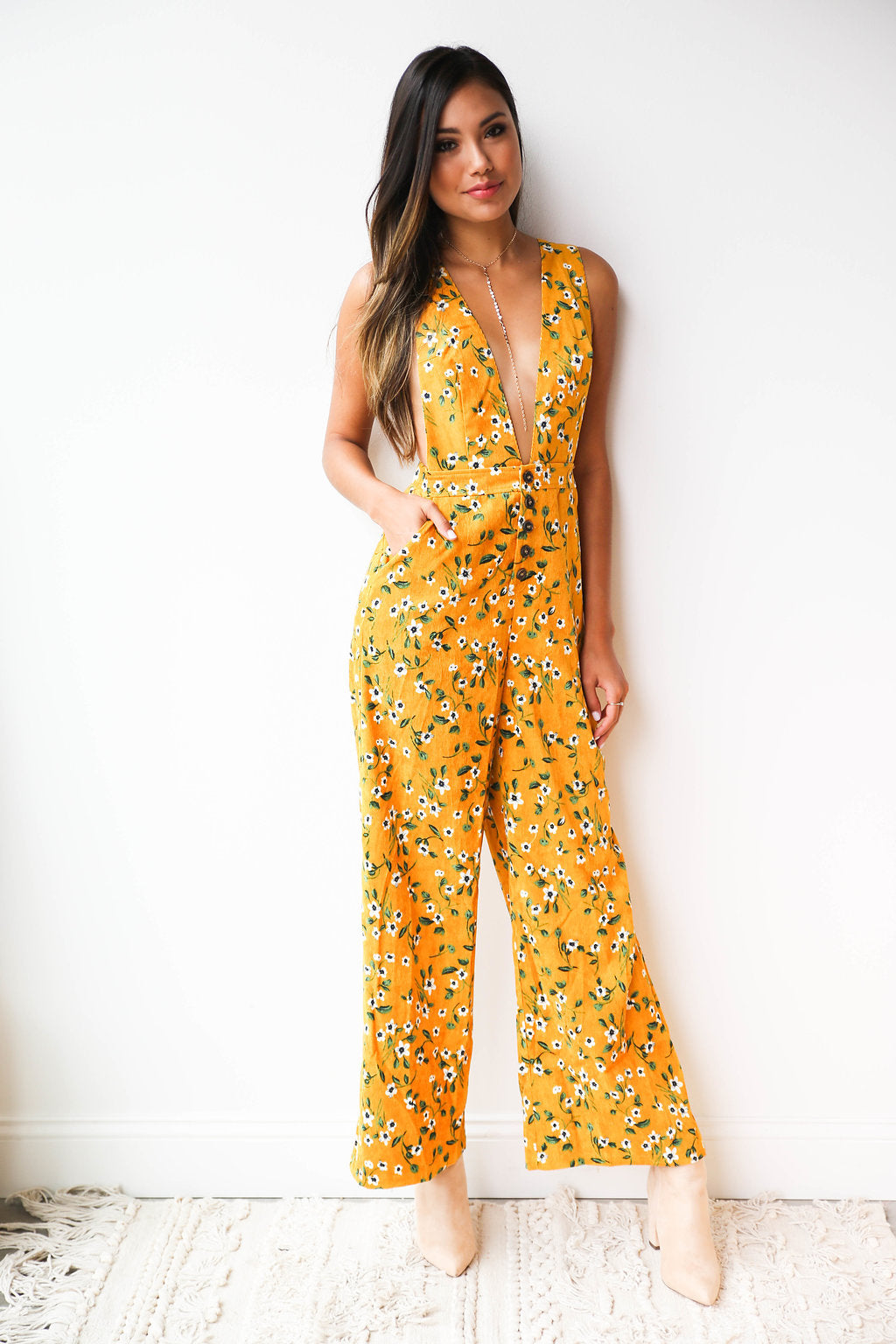 mode, autumn garden jumpsuit