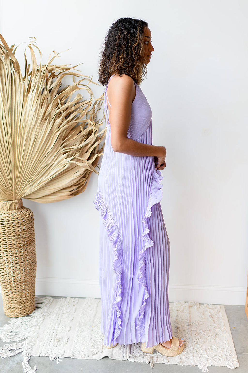 I beg and I pleat maxi dress