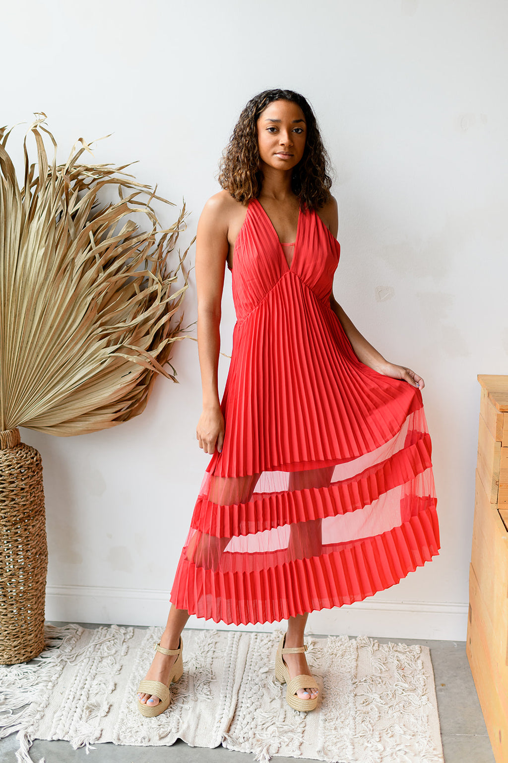 pleats to meet you dress