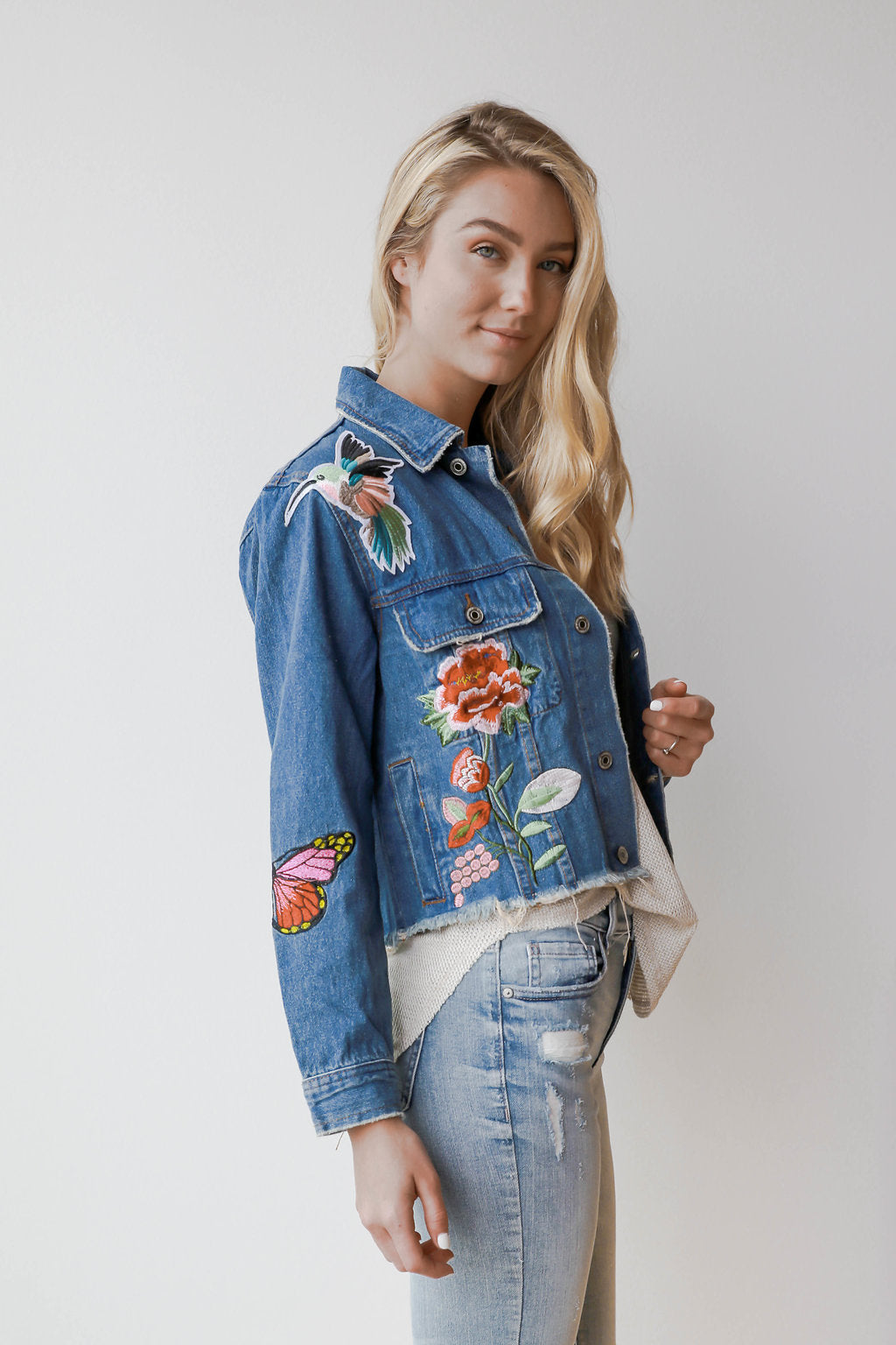 mode, childhood dreams embroidered jacket