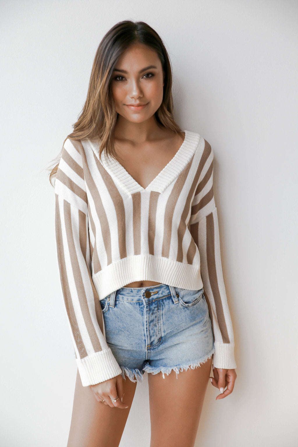mode, so fresh stripes sweater