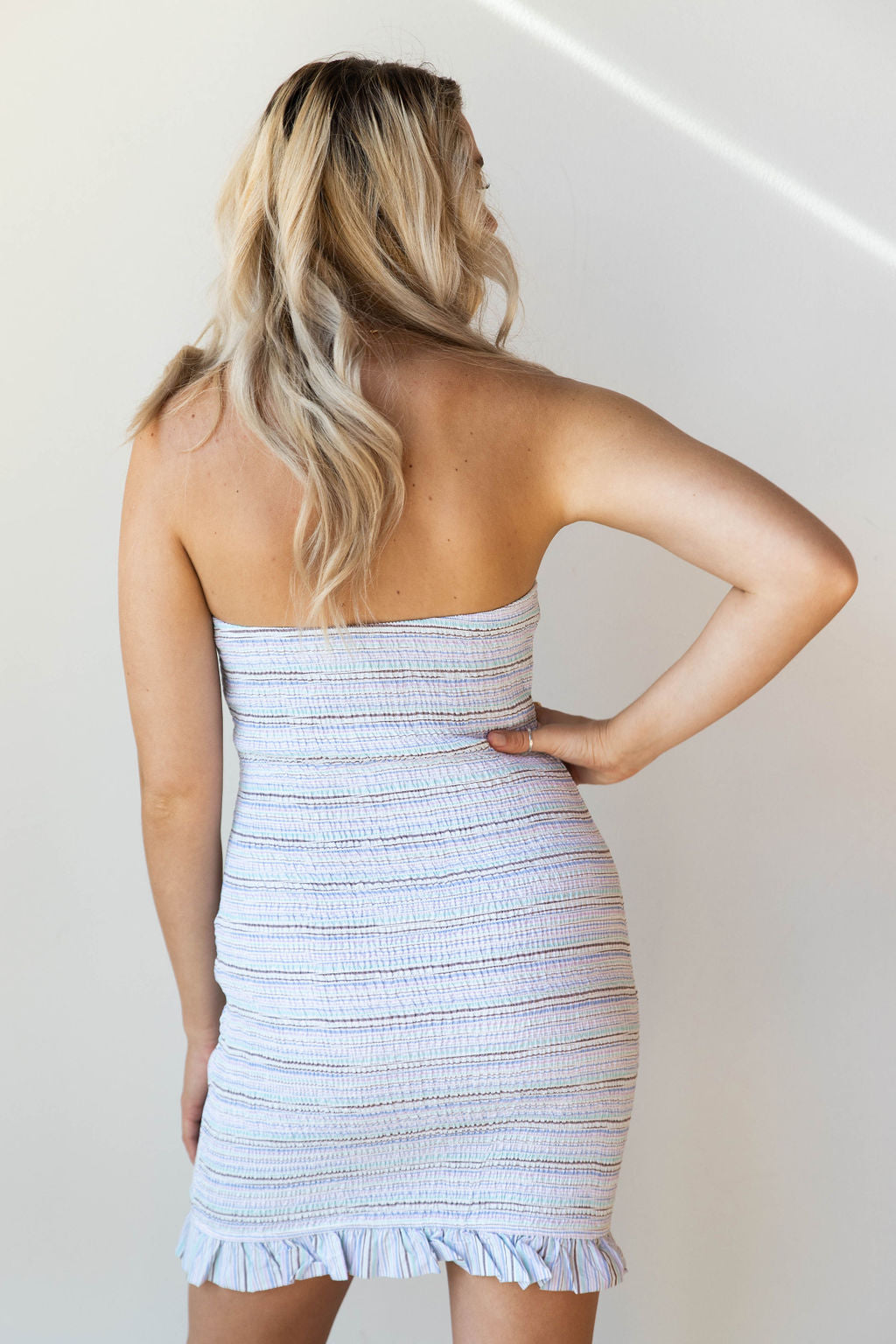 mode, la la smocked tube dress