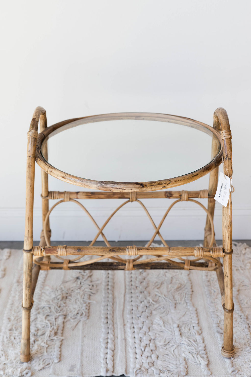 mode, small bamboo table