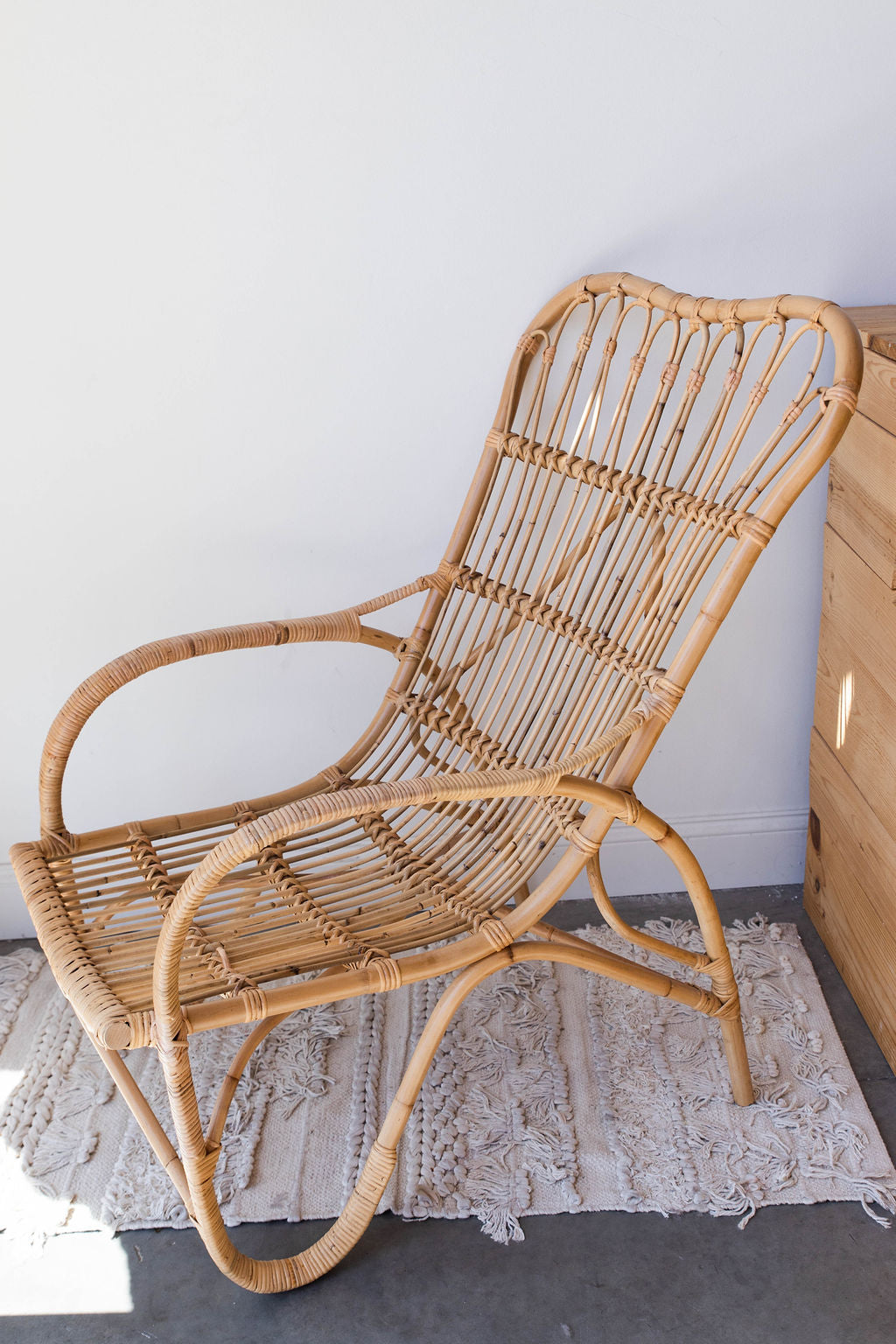 mode, rattan lounge chair