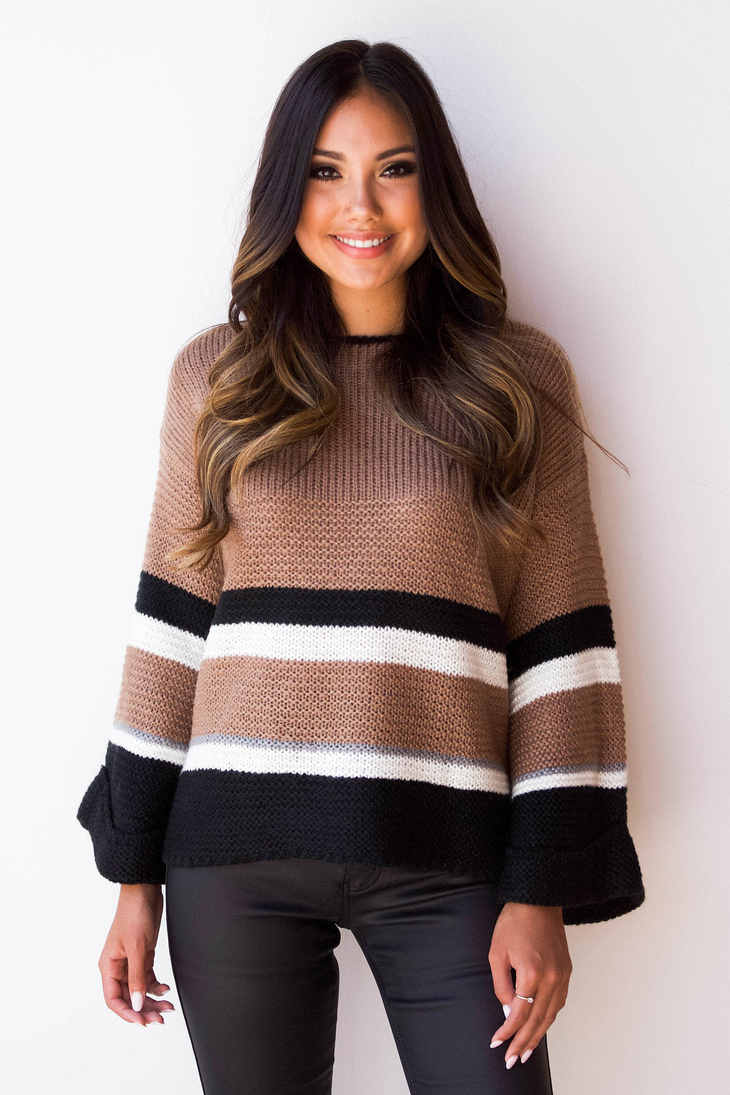 thick striped sweater