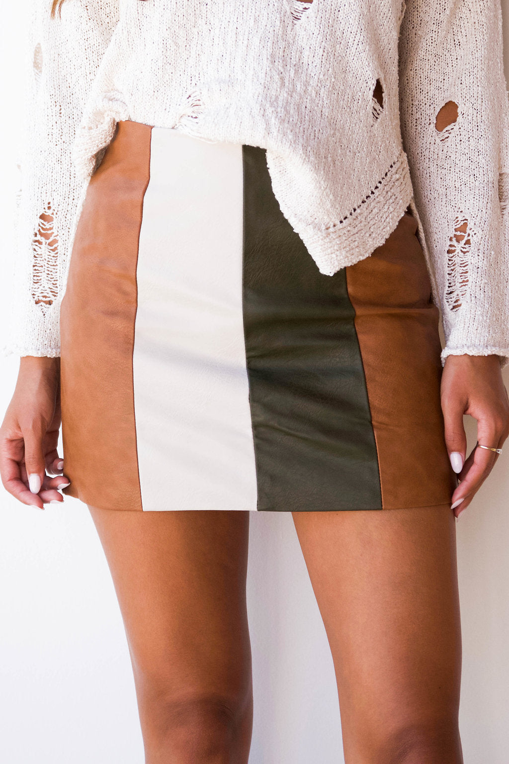 Cleo color block skirt