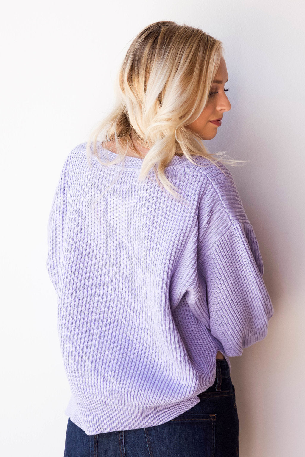 fresh cut lavender sweater