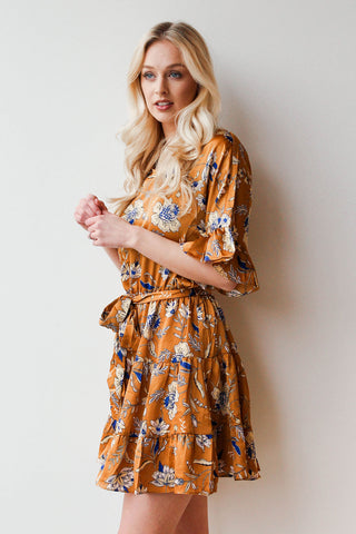 [shop name], golden luxe mini dress