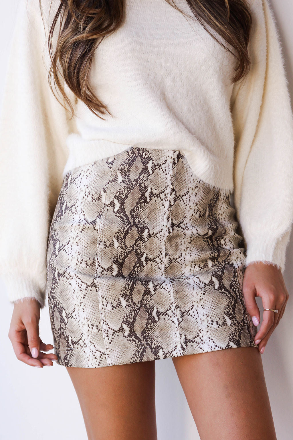 [shop name], Addie snake skin skirt
