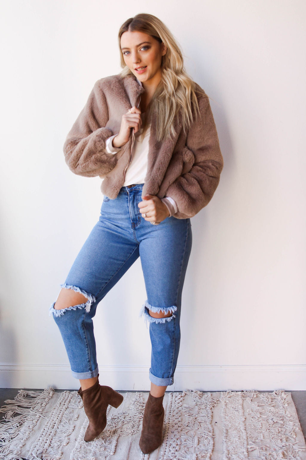 [shop name], melt my heart fur jacket