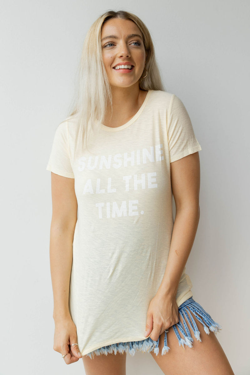 mode, sunshine all the time tee