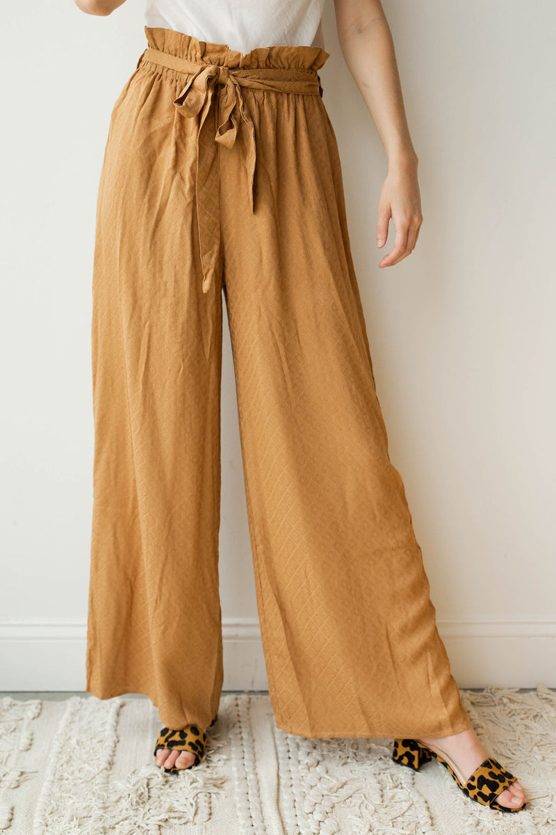 mode, put together wide leg pants