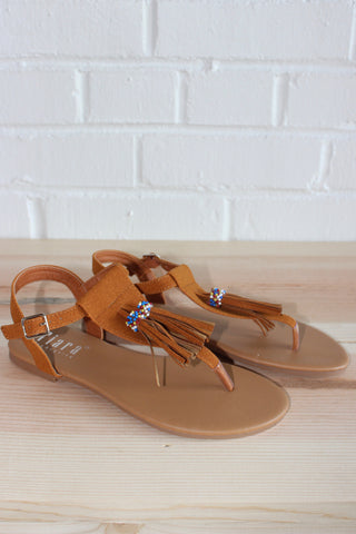 tassel friends sandal