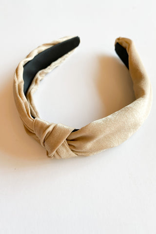 satin top knot headband