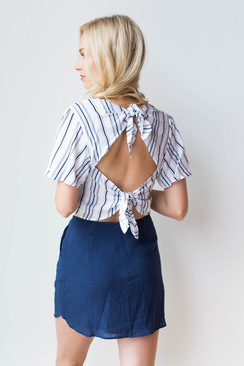 mode, sail the ocean blue skirt