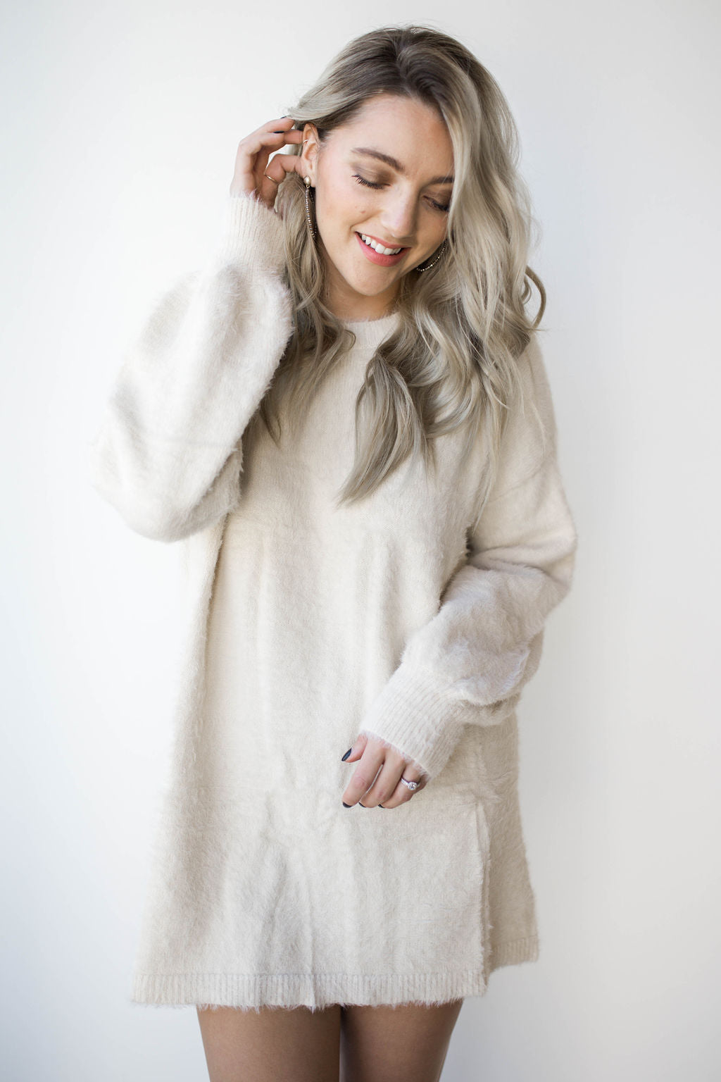 bundle up sweater dress