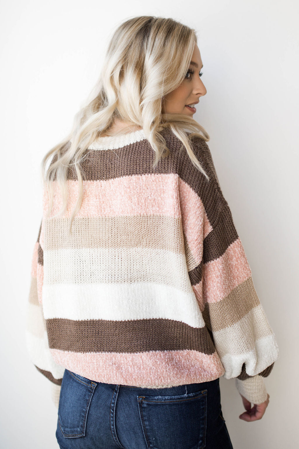 fresh cotton candy striped sweater
