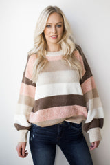 mode, fresh cotton candy striped sweater