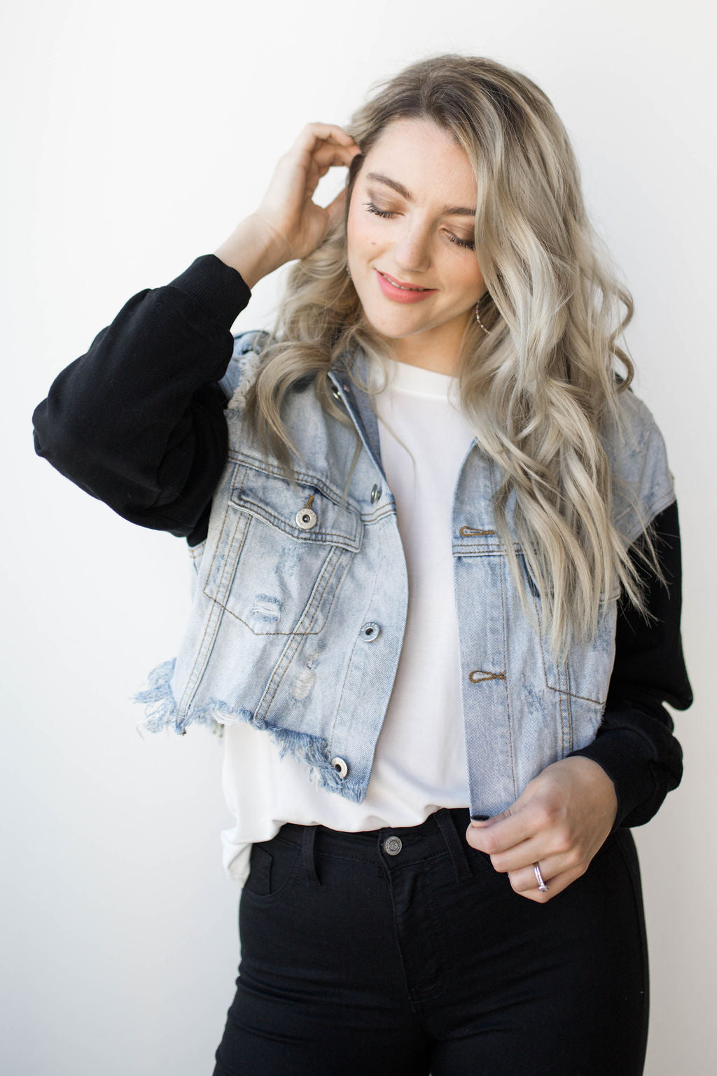 [shop name], be yourself cropped jacket