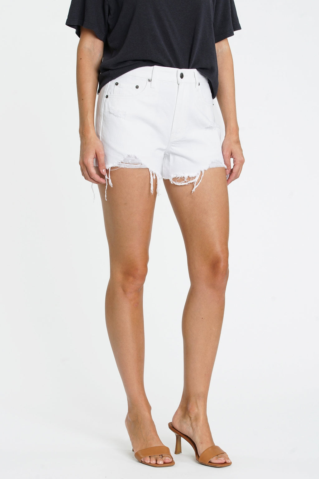 Nova highwaist distressed shorts