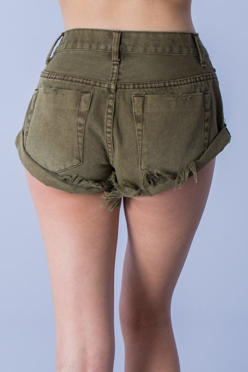 mode, Kei denim shorts