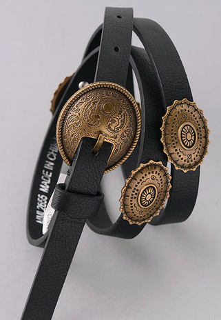 etched medallion boho belt