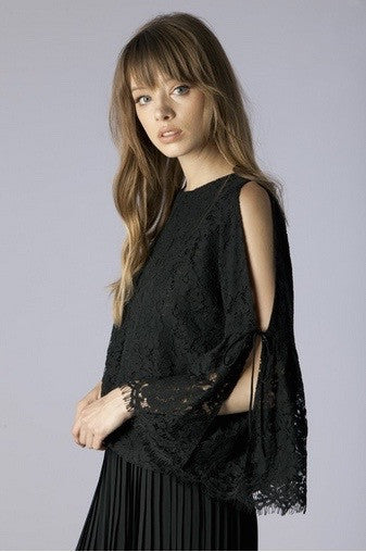 mode, butterfly lace top