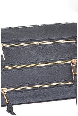 Becky 5 zip crossbody