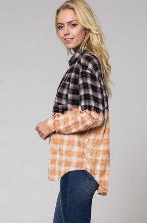 Pita ombre plaid top