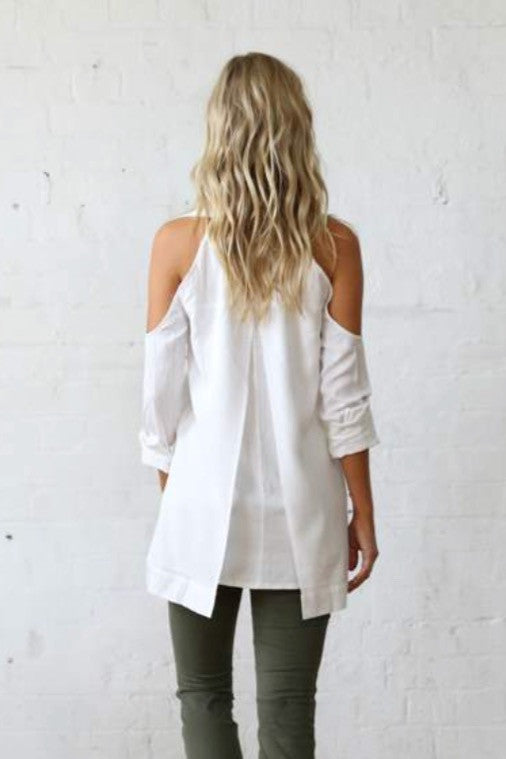 mode, Shelby cold shoulder shirt