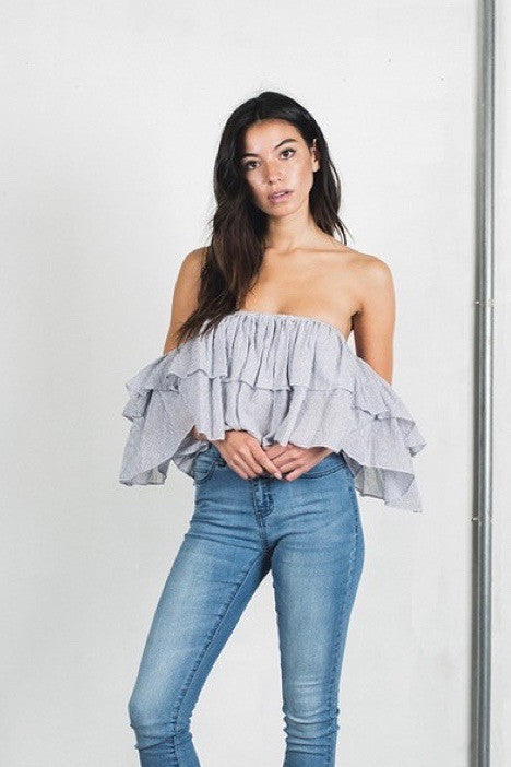 Alessia ruffled ots top