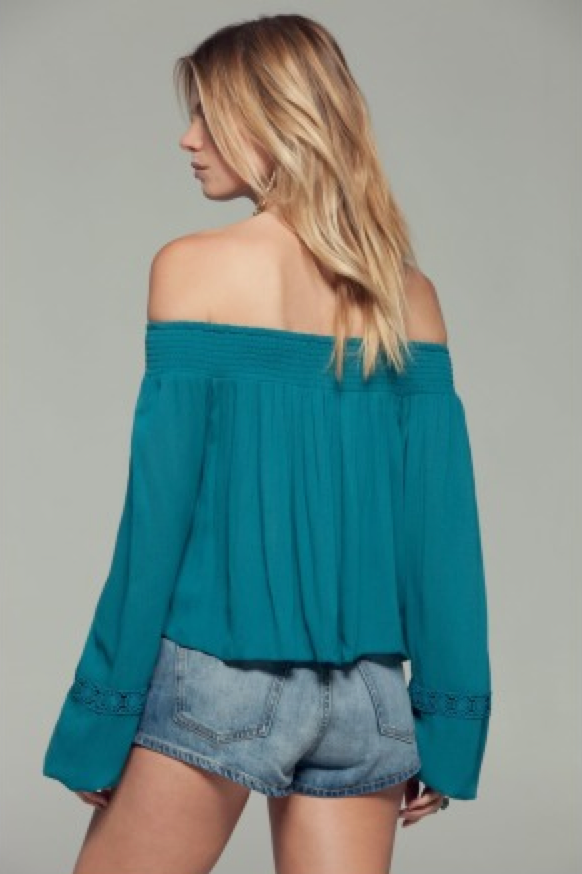crochet inset OTS top