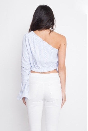 mode, shoulder show crop top