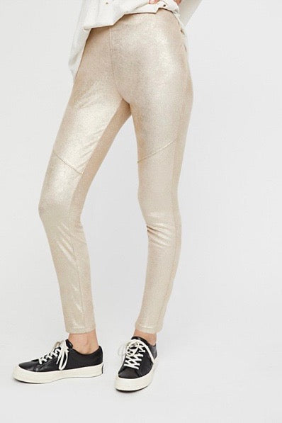 vegan metallic pant