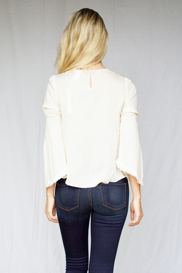 Stacey detailed bib blouse