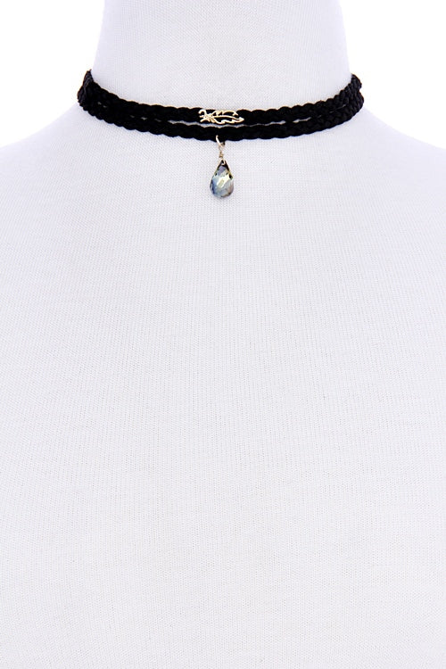 mode, double wrap braid choker