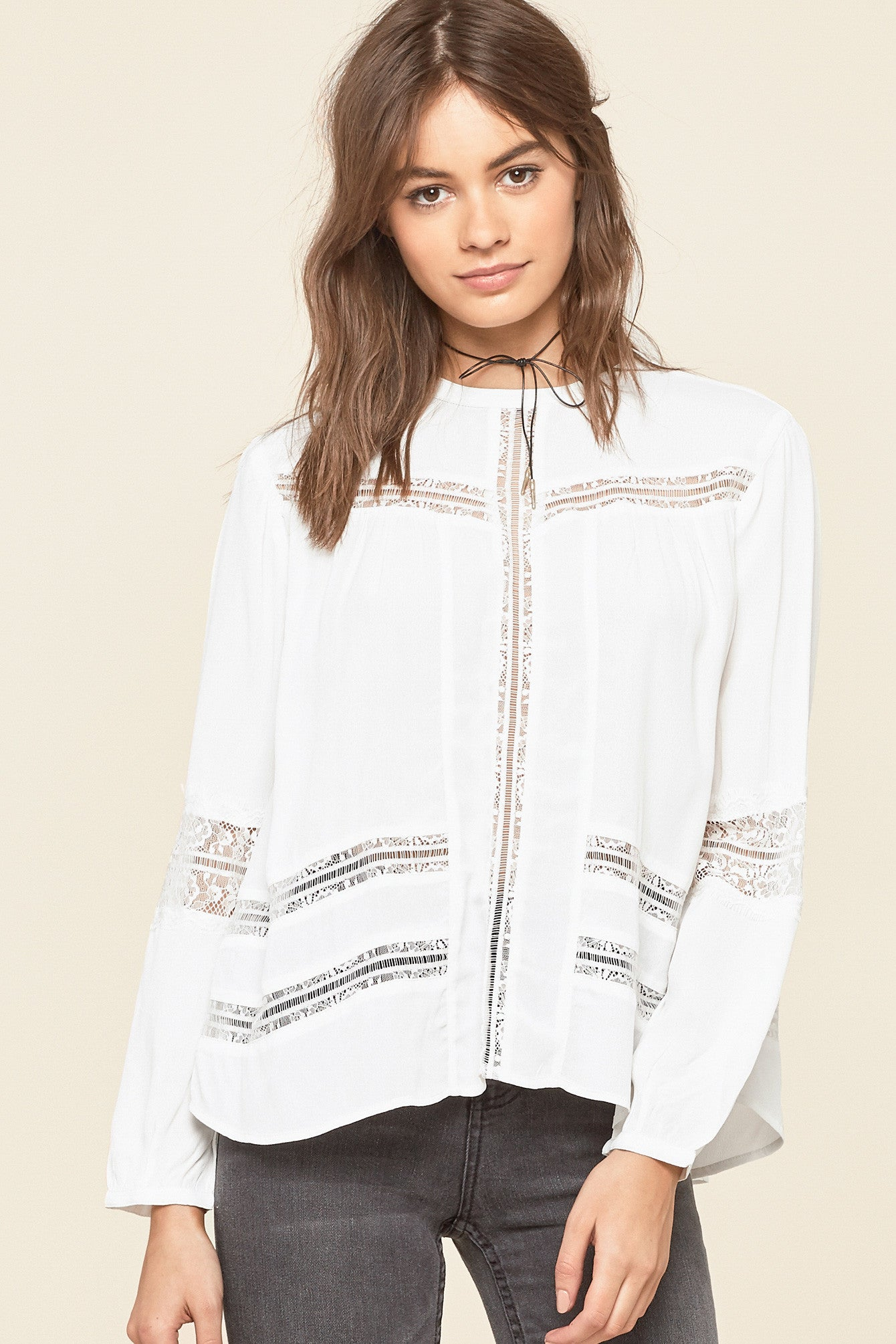 mode, Escapade woven blouse