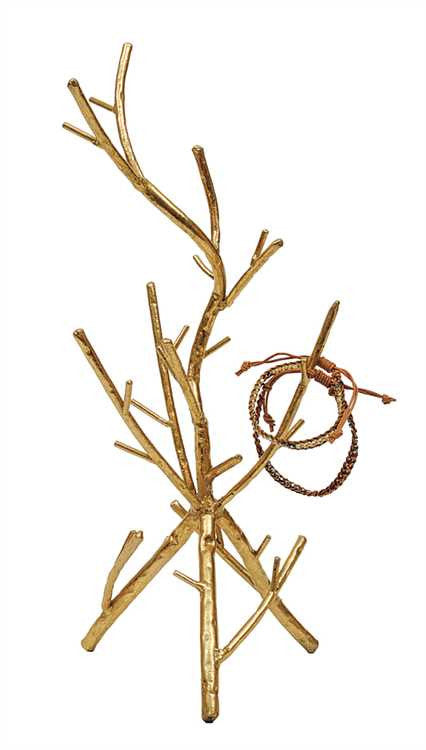 [shop name], golden branches jewelry holder