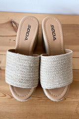 mode, feeling fresh woven platform
