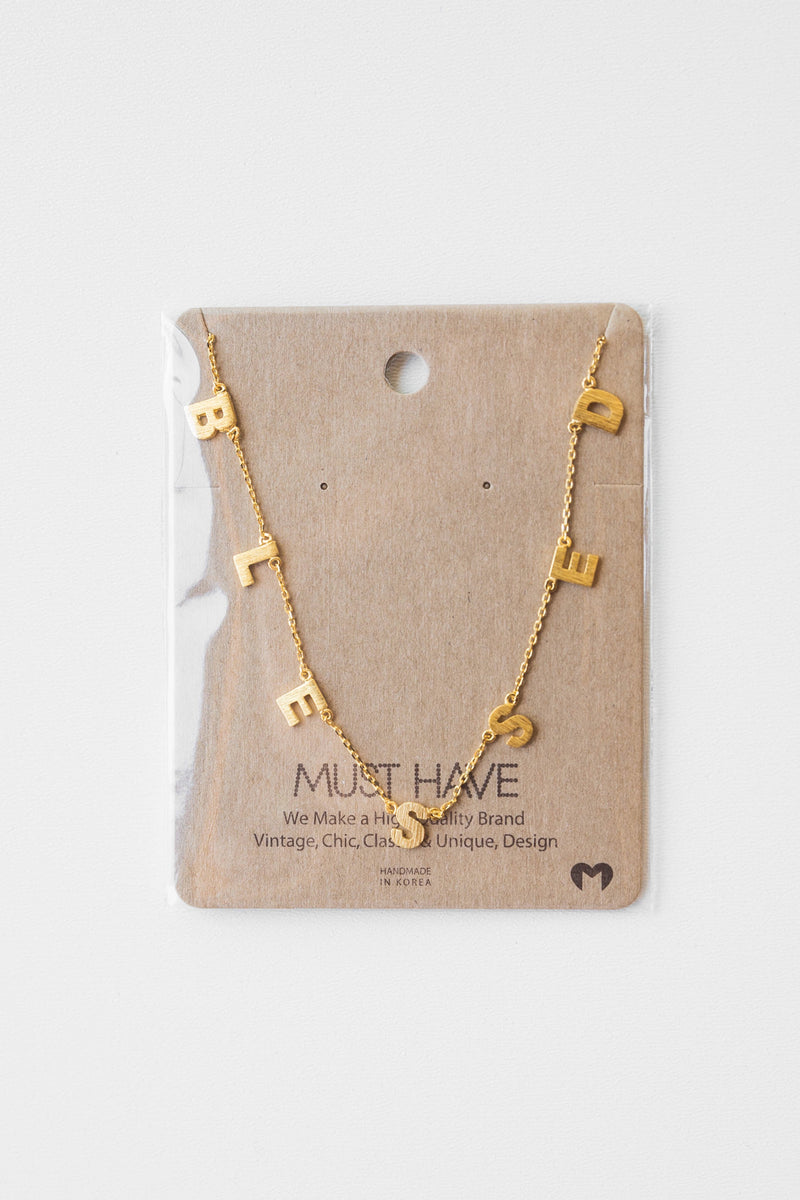 mode, read and believe necklace