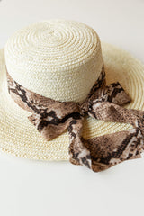 mode, lovely lady snake trim hat