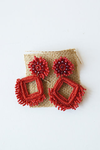 freshly sqeezed dbl beaded earring
