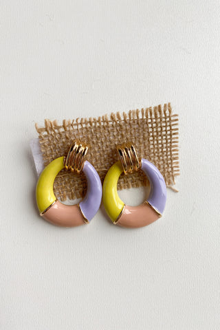 mode, happy colors earring