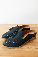 mode, adline studded tassel loafer