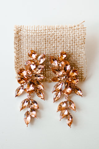 mode, blush garden earring