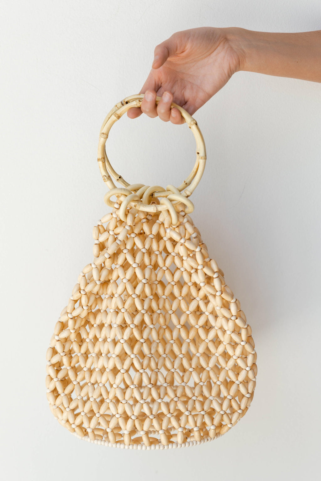 mode, beach bum beaded bag